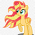 Sunset Shimmer et Appel Jack
