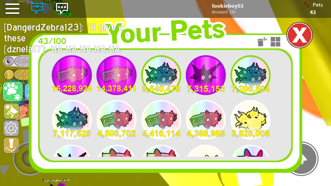 Rainbow Core Shock Pet Simulator – Home Exsplore