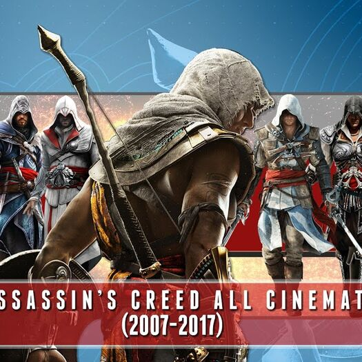 Assassin's Creed All Cinematic Trailers (2007-2017) HD