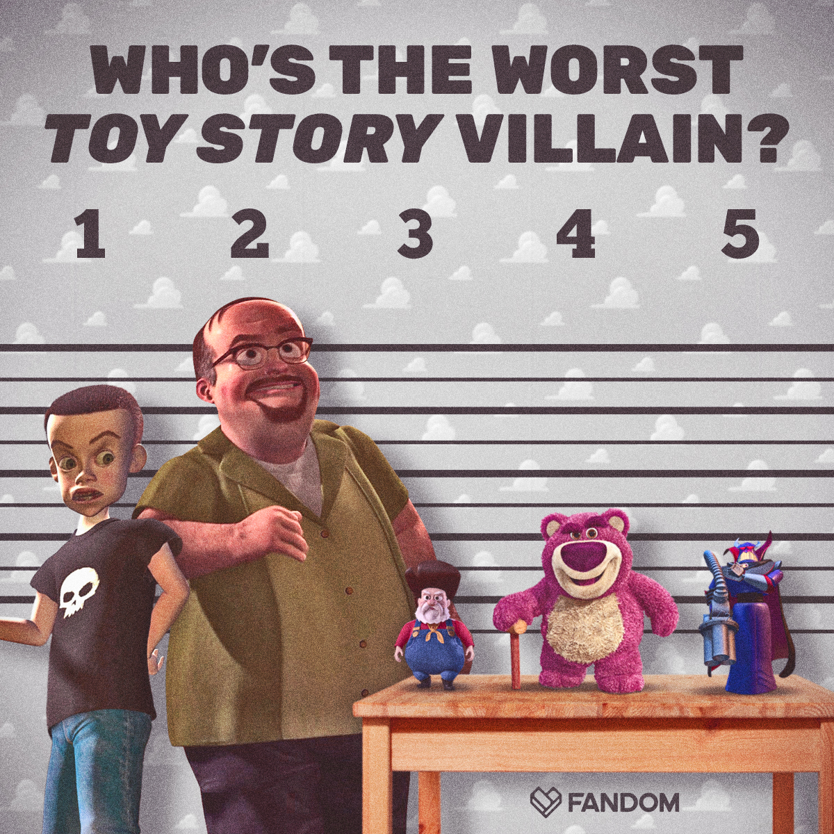 What's your vote for the worst Toy Story villain?