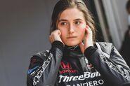 Tatiana Calderon as she Drives in Super Formula