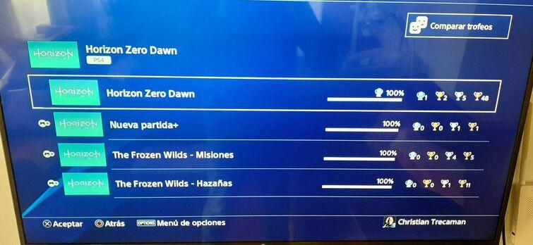 fin HZD trofeos PS4