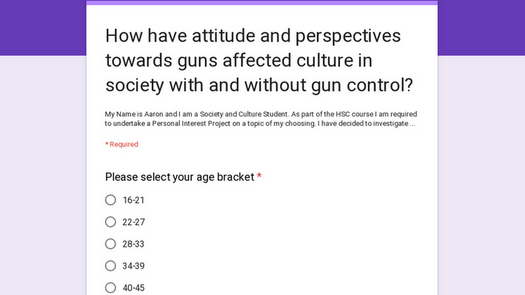 How have attitude and perspectives towards guns affected culture in society with and without gun control?