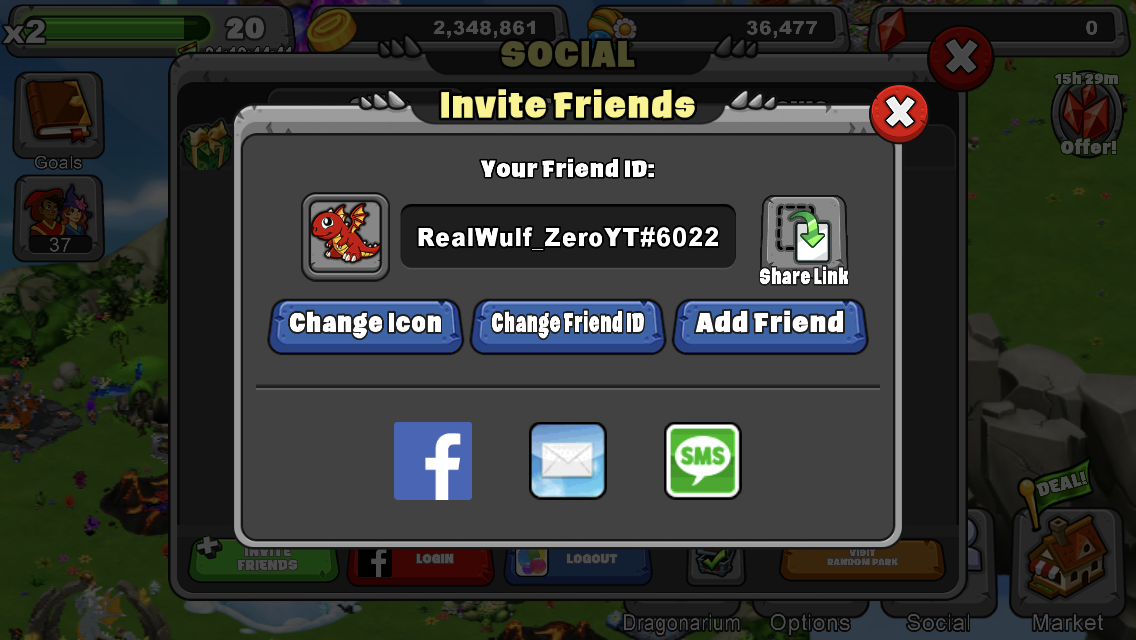 Add me on Dragonvale! I have no friends yet in game and am super lonely.
