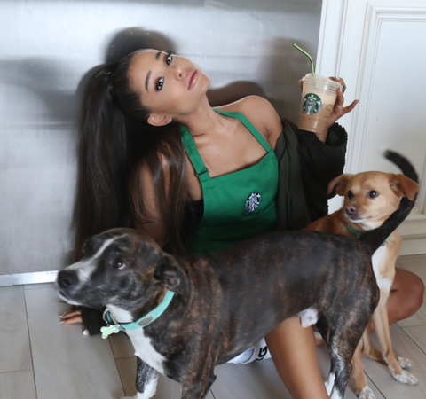 Ariana Grande is a DOG lover!!!!!!!!!!!!!!!!