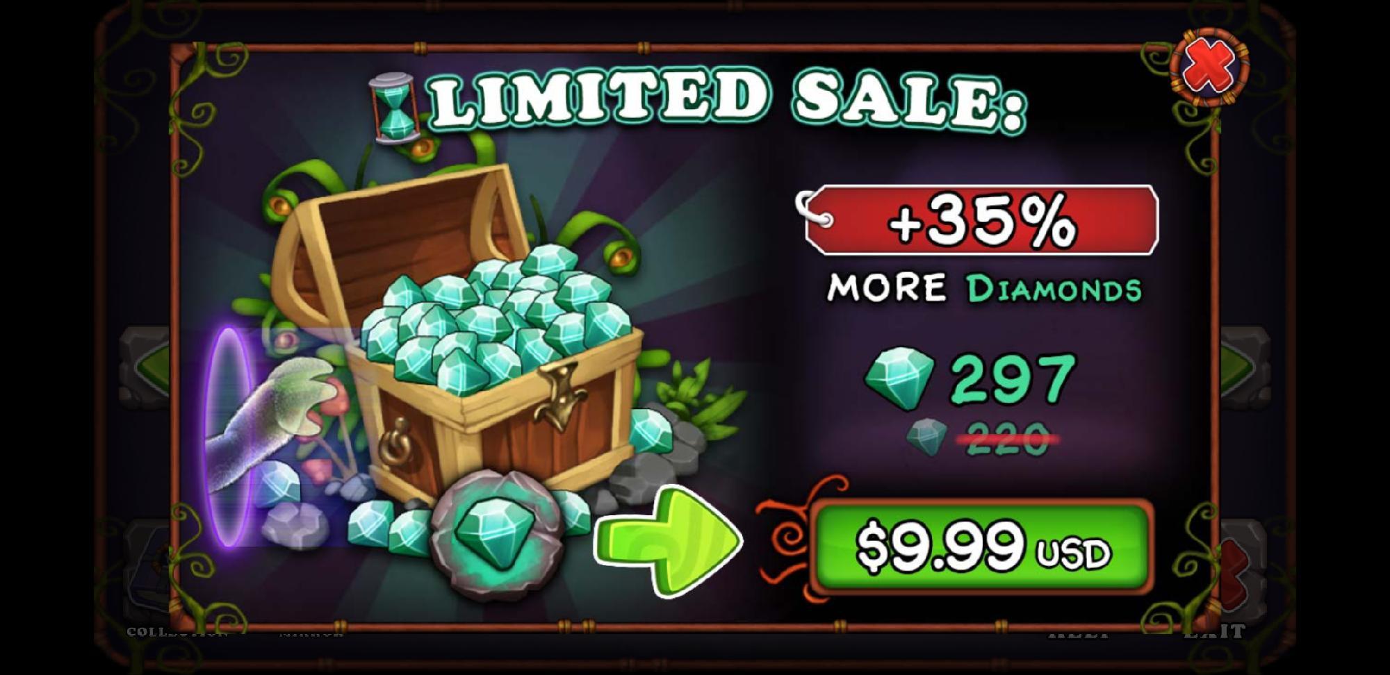 9.99 Diamond Sale