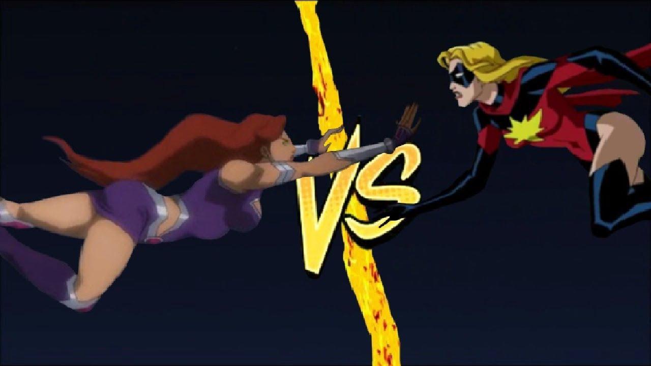 STARFIRE vs CAPTAIN MARVEL