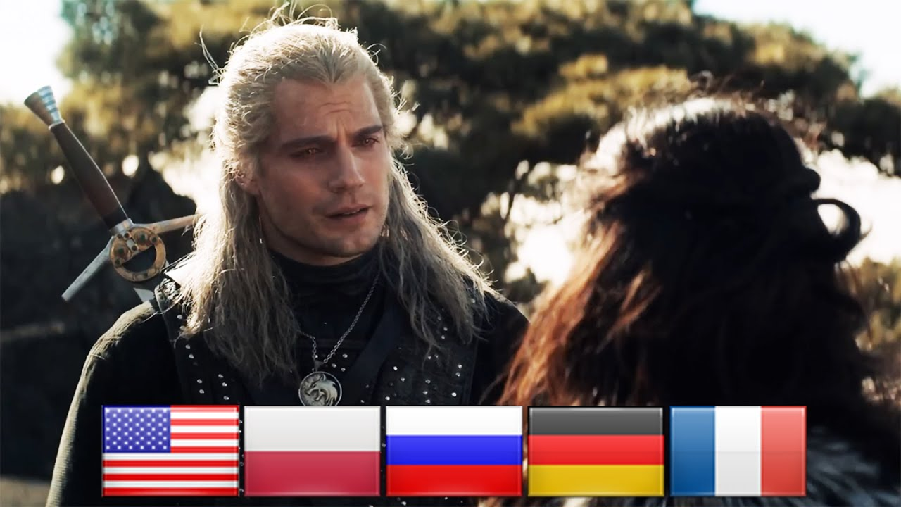 The Witcher in different languages.