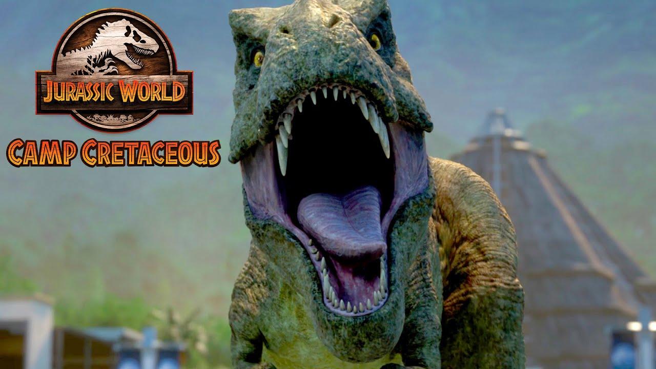 Sneaking Into the T-Rex Nest | JURASSIC WORLD CAMP CRETACEOUS | NETFLIX
