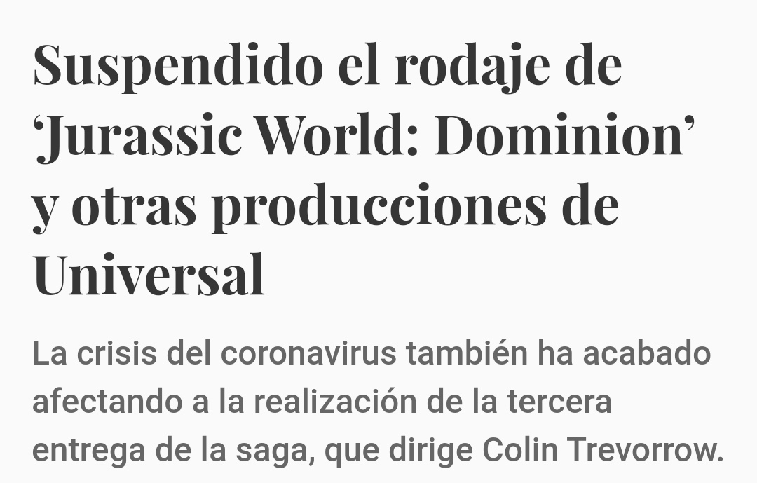Rodaje de jurassic world : Dominion