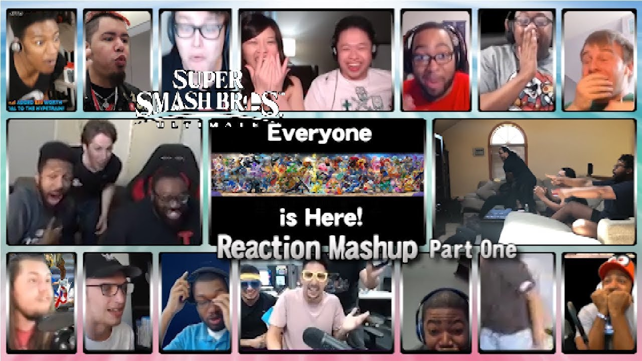 Super Smash Bros. Ultimate - Everyone is Here! PART ONE (50th Reaction Mashup Special)