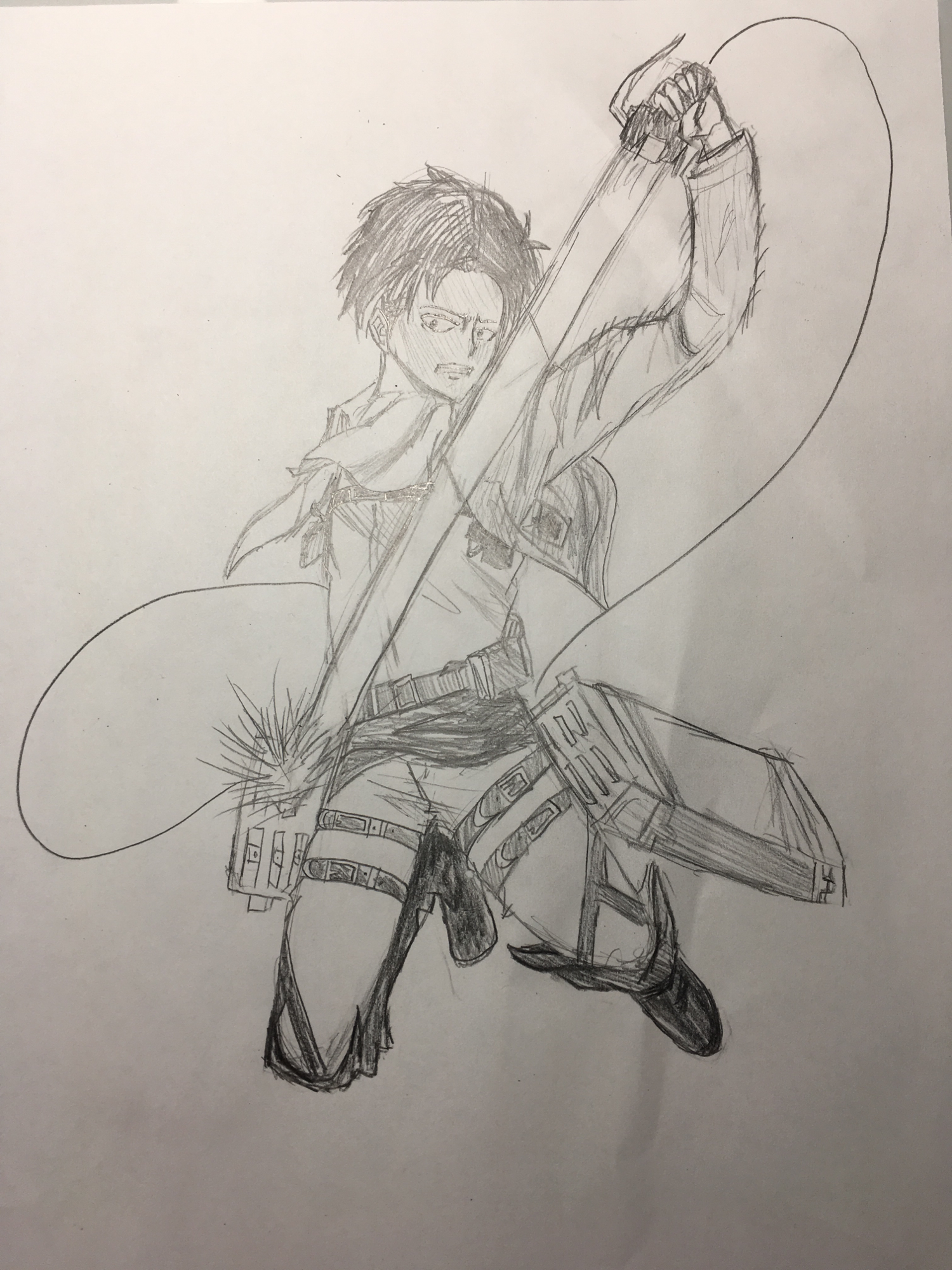 Another drawing of Levi from No Regrets-