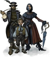 Concept art for middle class villagers in Fable II. People like this can be found in Bowerstone Market.