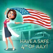 Allison Heart 4th of July