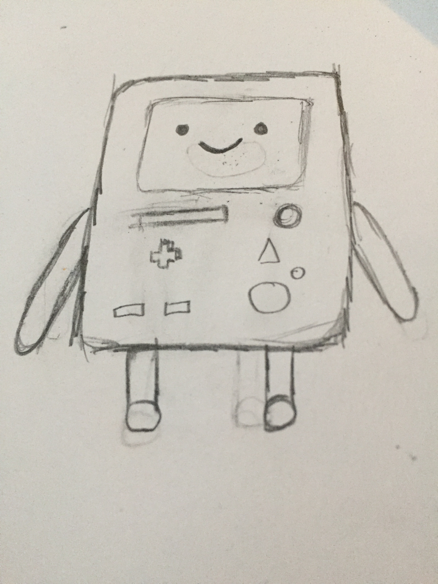 I drew bmo I think that bmos cute