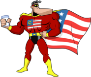 Crimson Chin (1950's Square Jawed Commie-Buster Chin) Stock Image