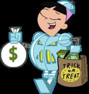 Trixie Tang Flawless Diamond Princess Jack-O-Bot Stock Image