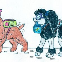 Dog timmy and tootie school by jose ramiro-d5ddn82.jpg