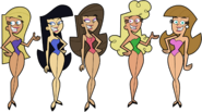 Supermodels Swimsuit 2 Stock Image