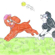 K 9 timmy and tootie ball by jose ramiro-d348k7a.jpg