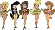 Supermodels Swimsuit 1 Stock Image