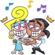 Juandissimo and blonda dancing by nintendomaximus-d5xujbh