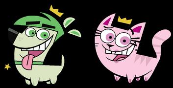 Cosmo (dog) and Wanda (cat)