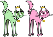 Cosmo and Wanda as Street Alley Cats