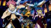 Natsu und lucy rennen vor dr armee weg