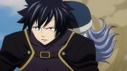 Gray and Juvia returning to the guild