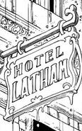 Hotel Latham sign