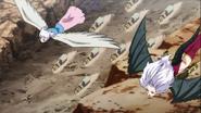 Lisanna and Mirajane flying to hargeon