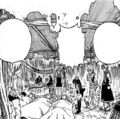 Natsu and the others see their injured nakama