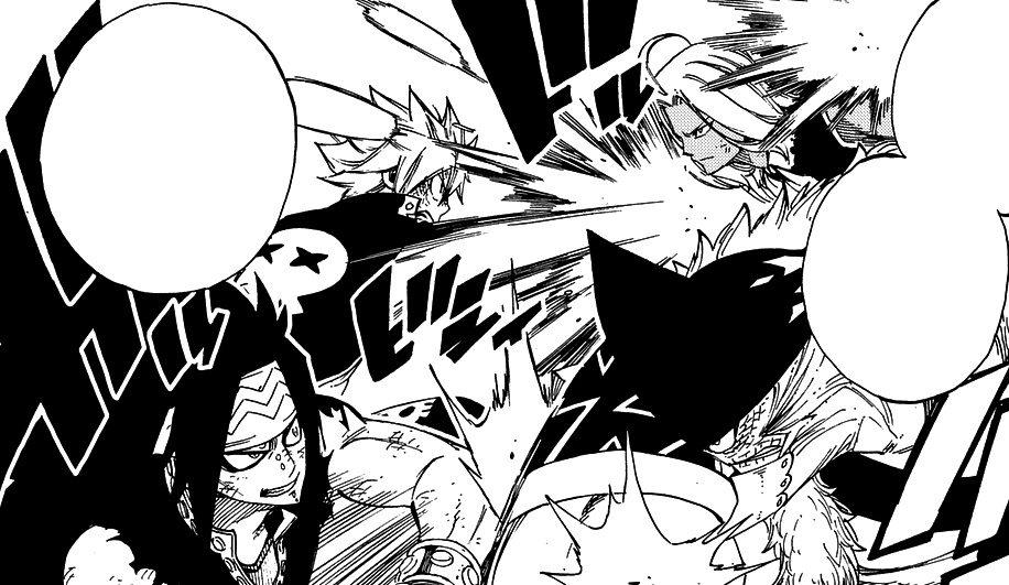 Natsu and Gajeel clash with Tempester and Torafuzar.png