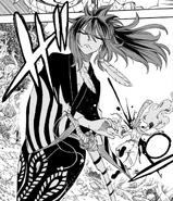 Suzaku slashes Natsu