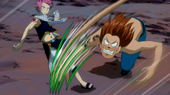 Toby attacks Natsu