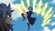 Jellal uses Nine Lightning Stars