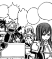 Team A cheering for Erza
