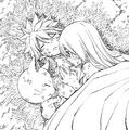 Lucy warms up Natsu's body