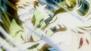 Lucy tries to save Loke
