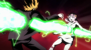Loke and Aries are shot from behind