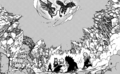 Fairy Tail members watch the Dragons fight