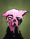 Pink-Painted Cat