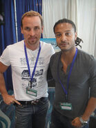Long Beach Comic Expo 2012 - Colin Cunningham and Brandon Jay McLaren from TNT's Falling Skies