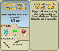 FoS Take Me out to the Ball Game card