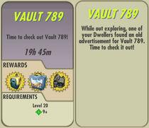 FoS Vault 789 card