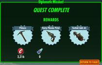 FoS Diplomatic Mission! rewards