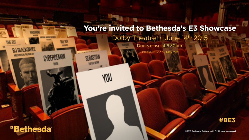 Agent c/Bethesda's E3 Invitations have gone out