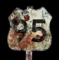 FNV Street sign Highway 95