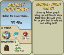 FoS Monday Night Brawl card